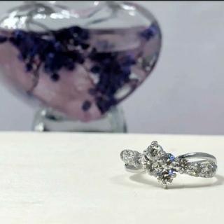 最終❤️Pt900 ダイヤモンドリング プラチナダイヤリング 1ct 10粒(リング(指輪))