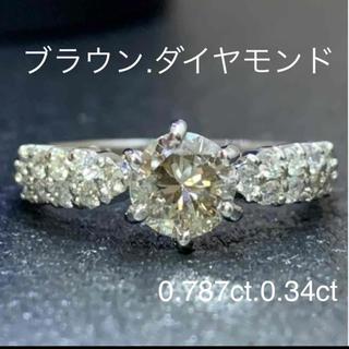 プラチナ ブラウンダイヤ&ダイヤモンド リング(リング(指輪))
