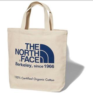 ザノースフェイス(THE NORTH FACE)の19年モデル 新品 未使用 ノースフェイス オーガニックコットン トート  青(トートバッグ)