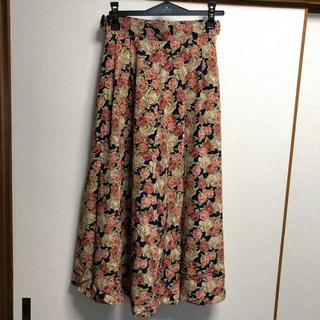アトリエメイク バラ柄スカート(ロングスカート)