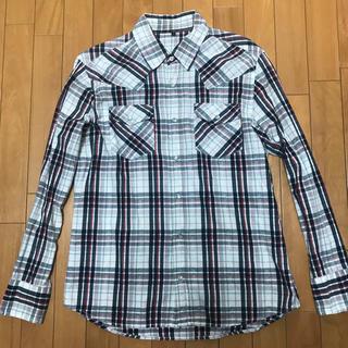 ザリアルマッコイズ(THE REAL McCOY'S)のコットン 綿100% 長袖ウエスタンシャツ (L)タータンチェックシャツ 白赤紺(シャツ)