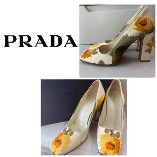 PRADA - プラダ フラワーサテン パンプス