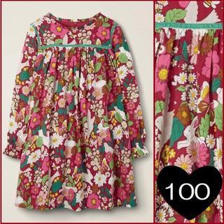 ボーデン(Boden)の*100*フリルネックプリントドレス(ワンピース)