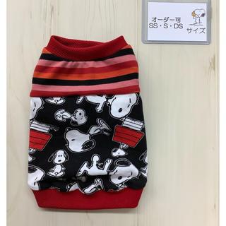 スヌーピー(SNOOPY)の犬服 ハンドメイド スヌーピー タンクトップ SSサイズ Sサイズ(ペット服/アクセサリー)