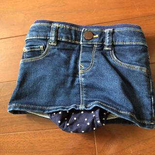 ベビーギャップ(babyGAP)のbabyGAP ミニスカート デニム インナーパンツ付き(スカート)