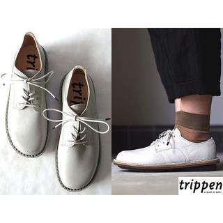 トリッペン(trippen)の新品 ドイツ製 定価49680円 トリッペン Sprint 38(ローファー/革靴)