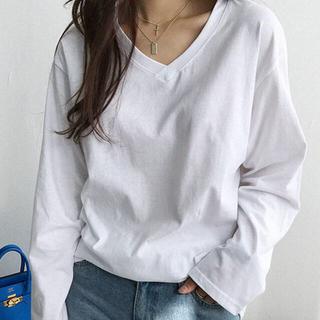 ディーホリック(dholic)のNANING9 Vネック長袖Tシャツ(Tシャツ(長袖/七分))