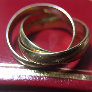カルティエ(Cartier)のカルティエ 鑑定済み 正規品 750 三連指輪 総重量7.3g(リング(指輪))