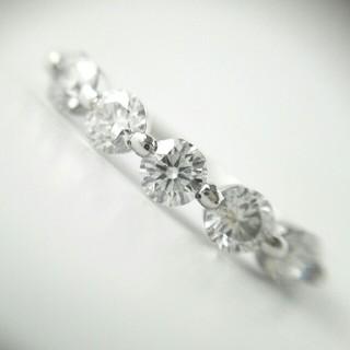 VERITE pt900 上質 ダイヤモンド 0.7ct エタニティリング(リング(指輪))