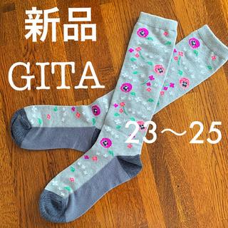 ベルメゾン - 【新品・GITA】お花柄ソックス  23~25cm