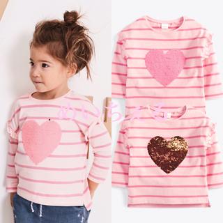 【新品】next ピンク フリッピースパンコールTシャツ(ヤンガー)