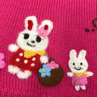 ミキハウス(mikihouse)のミキハウス セーター  ニット 100 ピンク うさこ 美品(ニット)