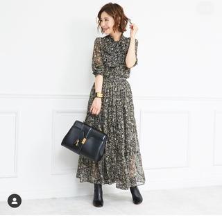 Chesty - obli  フラワーシフォンスカート  オブリ