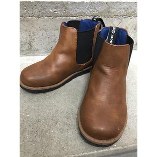 ブリーズ(BREEZE)の美品!BREEZE ブリーズ サイドゴアブーツ ショートブーツ キッズ 子供靴(ブーツ)