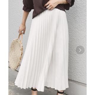 シップス(SHIPS)のデニムライクプリーツスカート(ロングスカート)