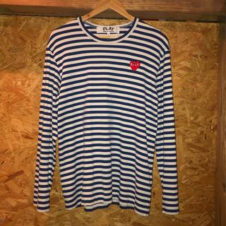 コムデギャルソン(COMME des GARCONS)のPLAY COMME des GARCONS ボーダー ロングTシャツ(Tシャツ/カットソー(七分/長袖))