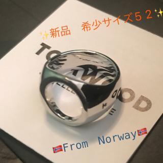 クロムハーツ(Chrome Hearts)の入手困難品 Tomwood トムウッド  オーバルオープンリング シルバー 52(リング(指輪))
