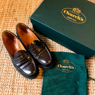 チャーチ(Church's)の定価6.5万 チャーチ コインローファー サリー ブラウン(ローファー/革靴)