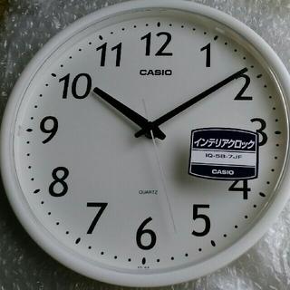 CASIO - 【新品・送料無料】CASIO クォーツ 壁掛け時計(電池付き)