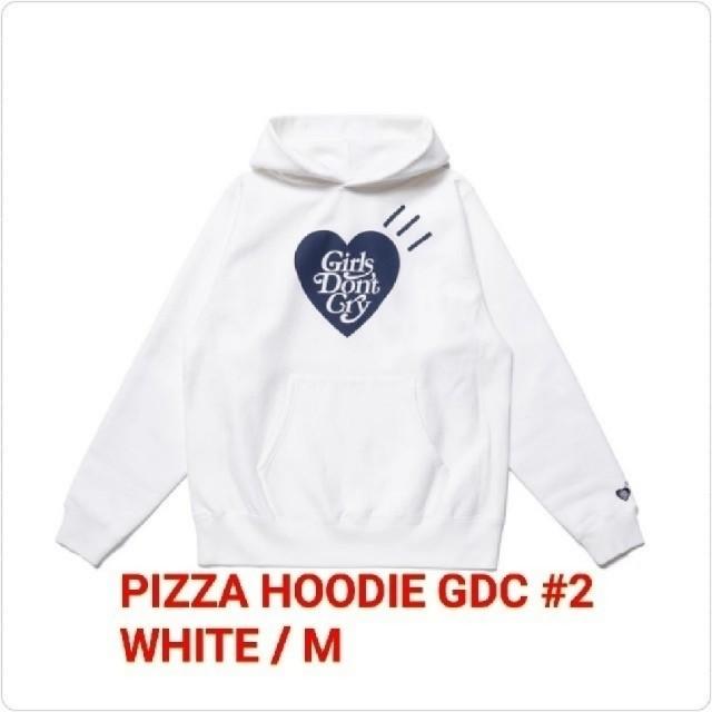 GDC(ジーディーシー)のGDC PIZZA HOODIE GDC #2 WHITE / M ⑤ メンズのトップス(パーカー)の商品写真