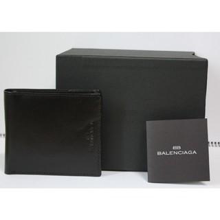 バレンシアガ(Balenciaga)の未使用 バレンシアガ 折財布 黒 ベルト付 BALEN CIAGA(折り財布)