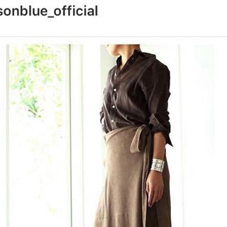 マディソンブルー(MADISONBLUE)のマディソンブルー ブラウンシャツexclusive商品MADISON  BLUE(シャツ/ブラウス(長袖/七分))