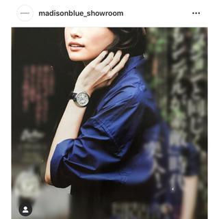 MADISONBLUE - マディソンブルー ハンプトンネイビーシャツMADISON  BLUE