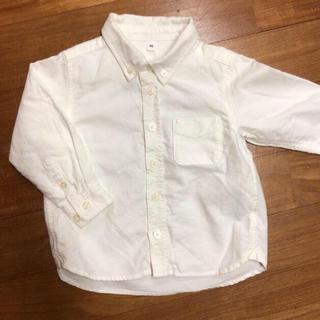ムジルシリョウヒン(MUJI (無印良品))の無印 ボタンダウンシャツ 90(ブラウス)