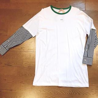 ヌメロヴェントゥーノ(N°21)のN°21 ドッキングシャツ(シャツ/ブラウス(長袖/七分))