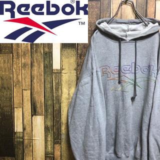 リーボック(Reebok)の【激レア】リーボック☆ベクタービッグロゴプリントスウェットパーカー 90s(パーカー)