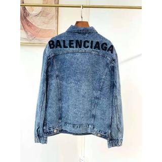 バレンシアガ(Balenciaga)のBALENCIAGA バレンシアガ ロゴ デニムジャケット(Gジャン/デニムジャケット)