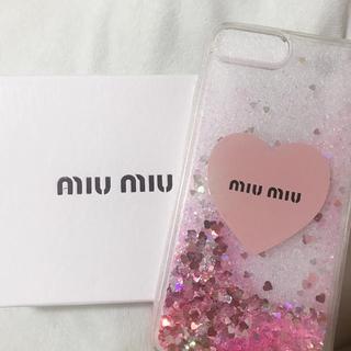 ミュウミュウ(miumiu)のmiumi○風 iphone7plus ケース(iPhoneケース)