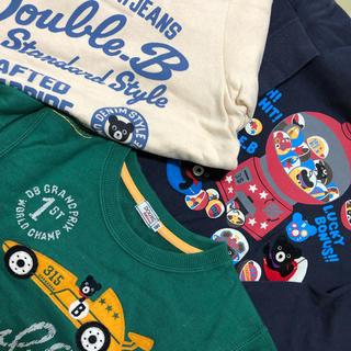 ダブルビー(DOUBLE.B)のミキハウス ダブルBトレーナーまとめて福袋130(Tシャツ/カットソー)