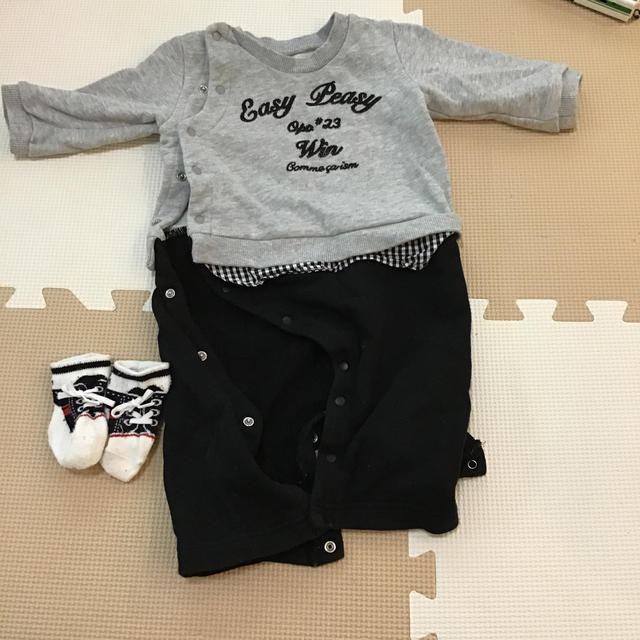 COMME CA ISM(コムサイズム)の男の子 50〜70 カバーオール 靴下つき キッズ/ベビー/マタニティのベビー服(~85cm)(カバーオール)の商品写真