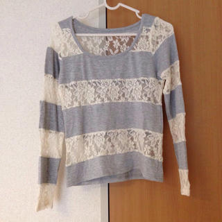 ハニーミーハニー(Honey mi Honey)のハニーミーハニー☆レースボーダーT(Tシャツ(長袖/七分))