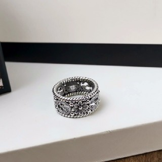 グッチ(Gucci)のグッチ ロゴ リング 925 シルバー 男女兼用(リング(指輪))