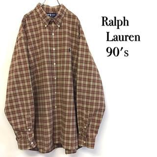 POLO RALPH LAUREN - 美品 90's Ralph Lauren BDシャツ チェック柄 大きいサイズ
