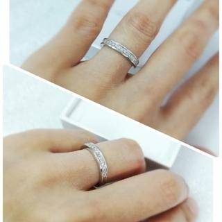 エステール tis K18wg ホワイトゴールド ハーフエタニ(リング(指輪))