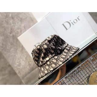 ディオール(Dior)のDior☆CD Oblique リバーシブル ハット ブラック(ハット)
