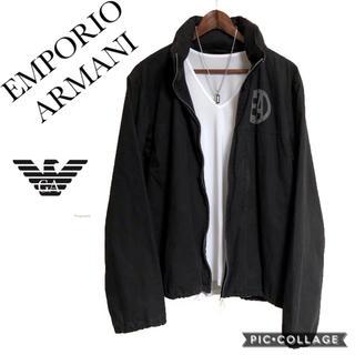 アルマーニ(Armani)のEMPORIO ARMANI ジャンパー 黒 ワンポイントジャケット ブルゾン(ブルゾン)