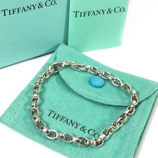 Tiffany & Co. - 希少 美品 ティファニー チェーン リンク シルバー ブレス UU25