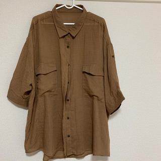 4Lブラウンシャツ(シャツ/ブラウス(長袖/七分))