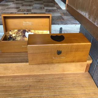 ドンペリニヨン(Dom Pérignon)のドンペリ・ゴールド/ 木製化粧箱 × 2箱セット(小物入れ)