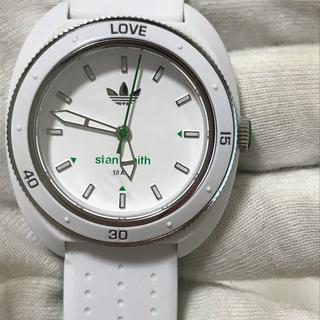 アディダス スタンスミス 腕時計 クォーツ 電池新品 ホワイト 白ADH3122
