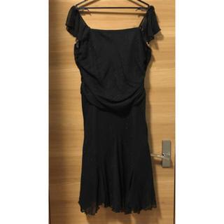 黒 ラメ入りドレス 13号(その他ドレス)