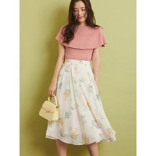 ノエラ(Noela)のペールフラワープリントスカート(ひざ丈スカート)