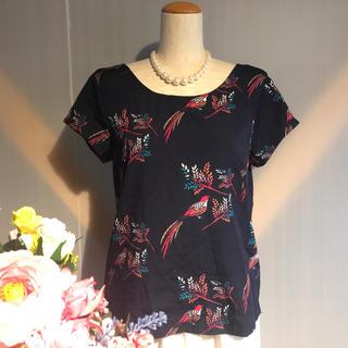 ギャップ(GAP)の【GAP】レーヨン 赤い鳥 半袖Tシャツ ネイビー(Tシャツ(半袖/袖なし))