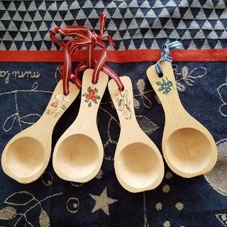 mina perhonen - スウェーデンで購入/ハンドペイント木製スプーン4本セット未使用