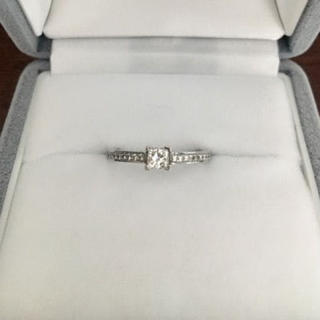 ティファニー(Tiffany & Co.)のティファニー グレース スクエア リング Pt950 0.19ct D VS-1(リング(指輪))