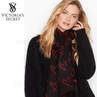 ヴィクトリアズシークレット(Victoria's Secret)のVS♡マフラー♡ブラック スカーレット(マフラー/ショール)